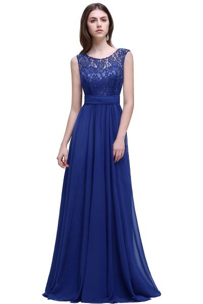 Eye-catching Scoop Chiffon A-line Evening Dress_3