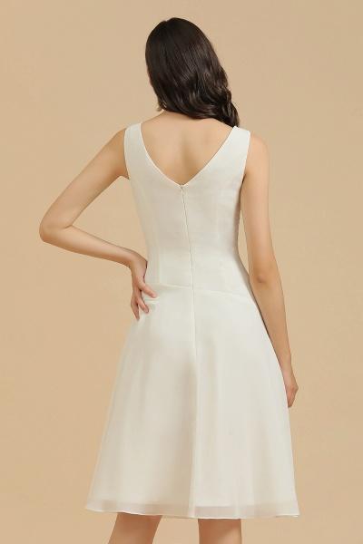 BM2005 Simple A-line Straps Ruffles Short Bridesmaid Dress_9