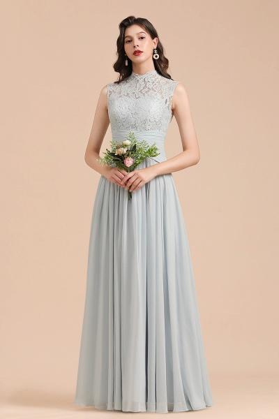 BM2001 A-line High Neck Lace Sleeveless Long Bridesmaid Dress_1