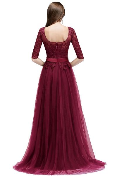 Sleek Jewel Tulle A-line Evening Dress_2