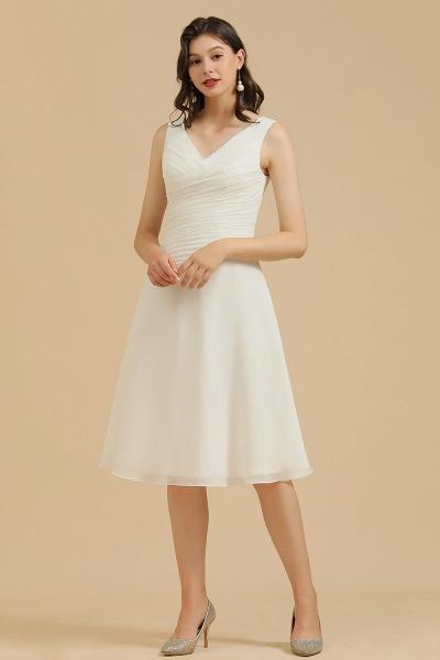 BM2005 Simple A-line Straps Ruffles Short Bridesmaid Dress_1