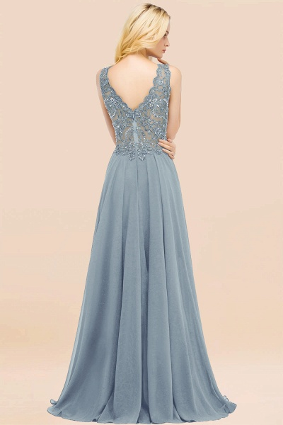 A-line Chiffon Appliques V-neck Sleeveless Floor-Length Bridesmaid Dresses with Crystals_52