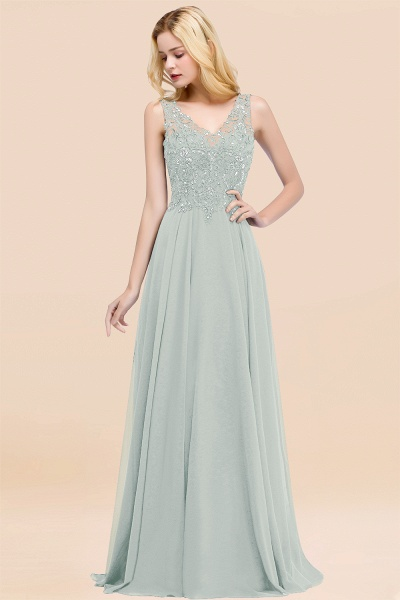 BM0324 Dusty Rose Lace V-Neck Long Bridesmaid Dresses With Appliques_38