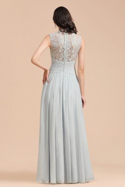 BM2001 A-line High Neck Lace Sleeveless Long Bridesmaid Dress_3