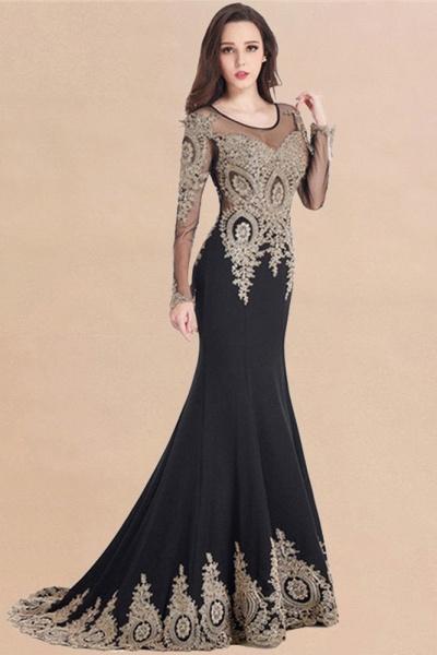 Beautiful Jewel Stretch Satin Mermaid Prom Dress_11