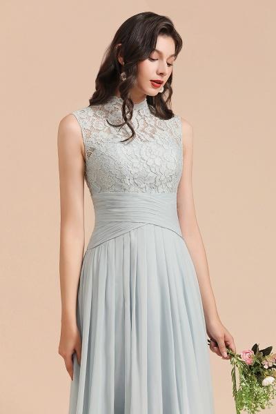 BM2001 A-line High Neck Lace Sleeveless Long Bridesmaid Dress_8