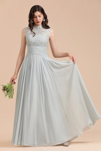 BM2001 A-line High Neck Lace Sleeveless Long Bridesmaid Dress_4
