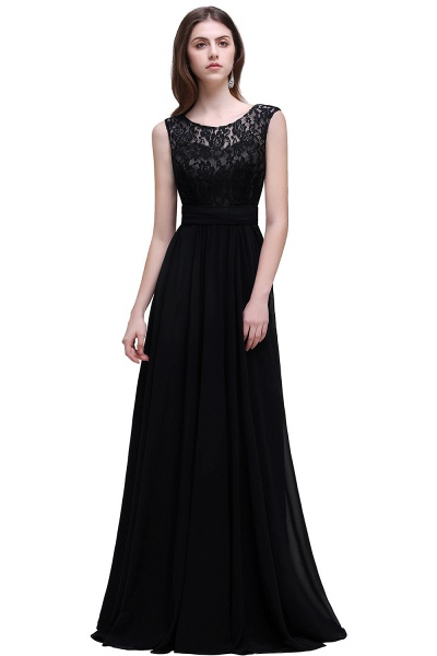Eye-catching Scoop Chiffon A-line Evening Dress_5
