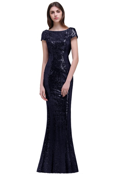 Women Sparkly Rose Gold Long Sequins Bridesmaid Dresses Prom/Evening Gowns_5