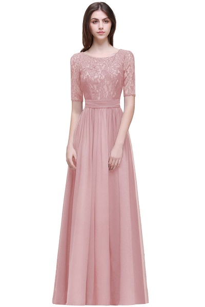 Fascinating Jewel Chiffon A-line Evening Dress_3