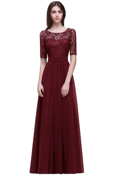 Fascinating Jewel Chiffon A-line Evening Dress_4