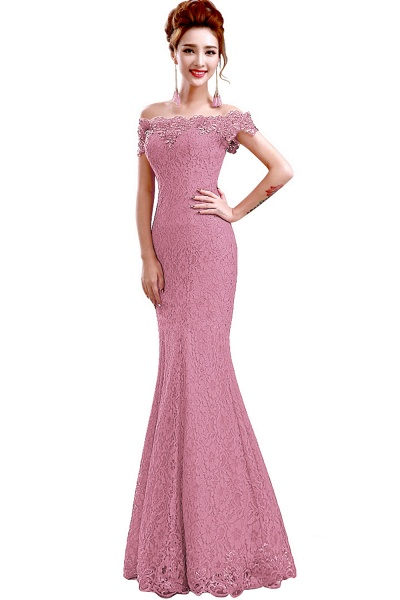 EMMALYNN | Mermaid Off Shoulder  Floor-Length Lace Bridesmaid Dresses_5