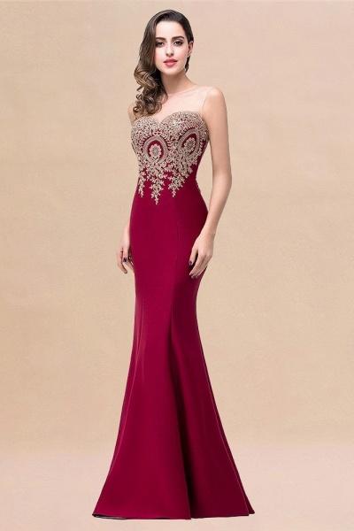 Mermaid Floor-Length Sheer Prom Dresses with Rhinestone Appliques_19