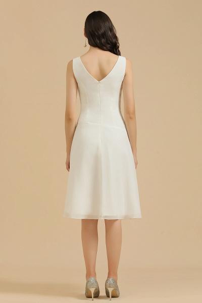 BM2005 Simple A-line Straps Ruffles Short Bridesmaid Dress_3