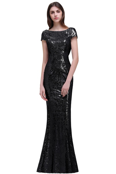 Women Sparkly Rose Gold Long Sequins Bridesmaid Dresses Prom/Evening Gowns_6