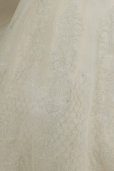 CPH223 Cap Sleeve Aline Cathedral Tulle Lace Appliques Garden Luxury Wedding Dresses_6