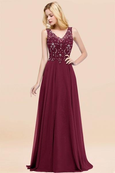 BM0324 Dusty Rose Lace V-Neck Long Bridesmaid Dresses With Appliques_44