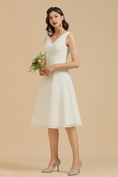 BM2005 Simple A-line Straps Ruffles Short Bridesmaid Dress_8