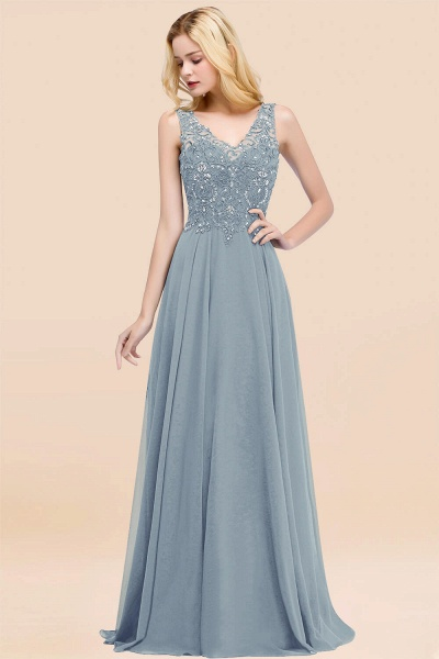 A-line Chiffon Appliques V-neck Sleeveless Floor-Length Bridesmaid Dresses with Crystals_40