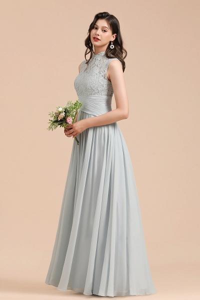 BM2001 A-line High Neck Lace Sleeveless Long Bridesmaid Dress_7