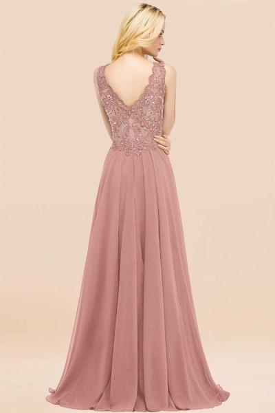 BM0324 Dusty Rose Lace V-Neck Long Bridesmaid Dresses With Appliques_52
