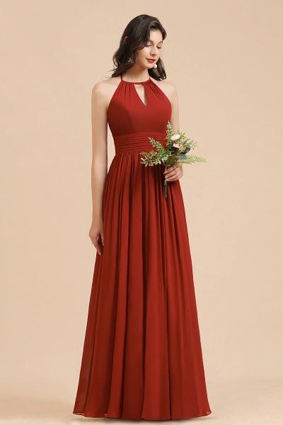 BM2004 Halter A-line Pleated Chiffon Bridesmaid Dress_6