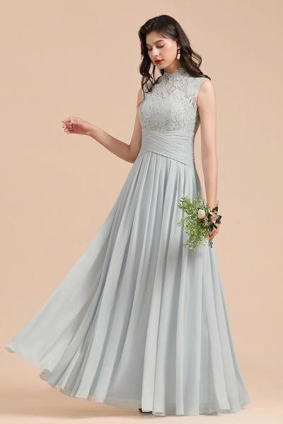 BM2001 A-line High Neck Lace Sleeveless Long Bridesmaid Dress_6