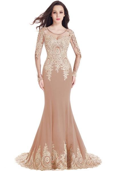Beautiful Jewel Stretch Satin Mermaid Prom Dress_1