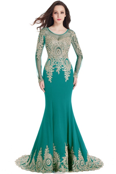 Beautiful Jewel Stretch Satin Mermaid Prom Dress_10