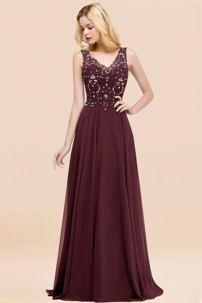 BM0324 Dusty Rose Lace V-Neck Long Bridesmaid Dresses With Appliques_47