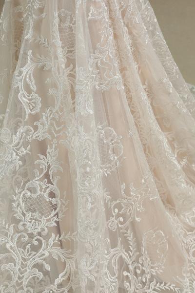 CPH233 Mermaid Further Tassel Appliques Open Back Wedding Dress_6
