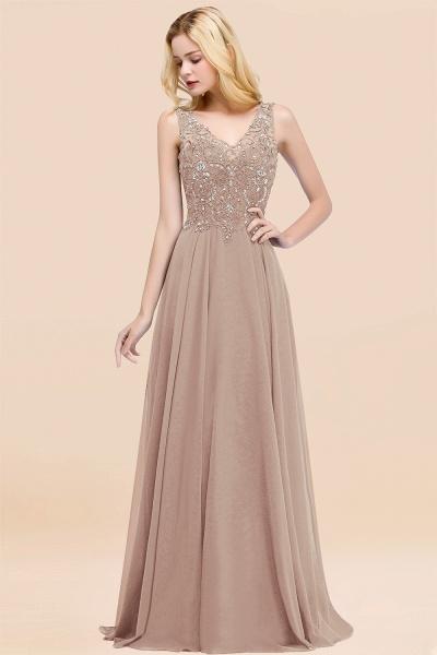BM0324 Dusty Rose Lace V-Neck Long Bridesmaid Dresses With Appliques_16