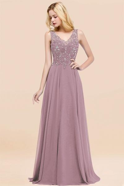 BM0324 Dusty Rose Lace V-Neck Long Bridesmaid Dresses With Appliques_43