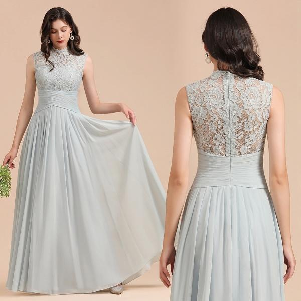 BM2001 A-line High Neck Lace Sleeveless Long Bridesmaid Dress_10