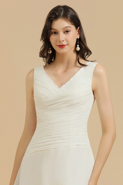 BM2005 Simple A-line Straps Ruffles Short Bridesmaid Dress_7