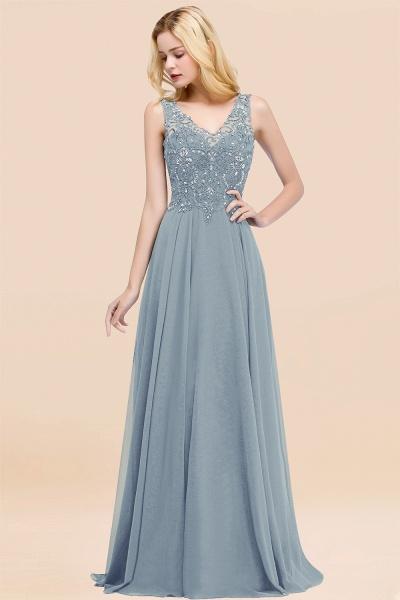 BM0324 Dusty Rose Lace V-Neck Long Bridesmaid Dresses With Appliques_40