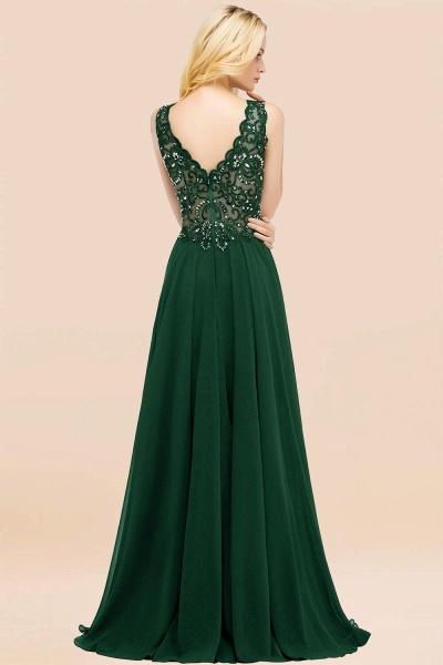 BM0324 Dusty Rose Lace V-Neck Long Bridesmaid Dresses With Appliques_54