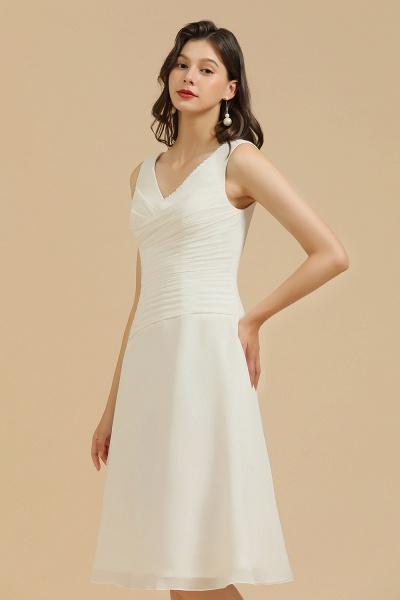 BM2005 Simple A-line Straps Ruffles Short Bridesmaid Dress_4