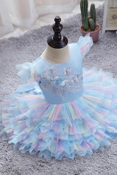 FS9971 Yellow Tulle Ruffles Ball Gown Wedding Dress_3