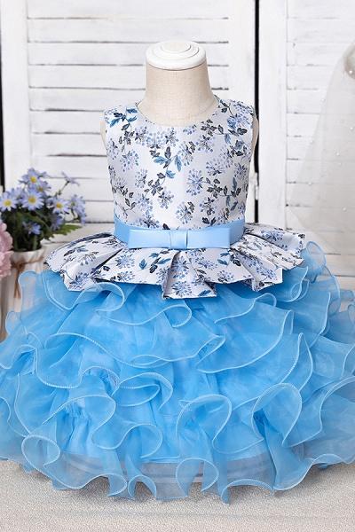 FS9963 Scoop Purple Ruffles Floor Length Flower Girl Dress_10