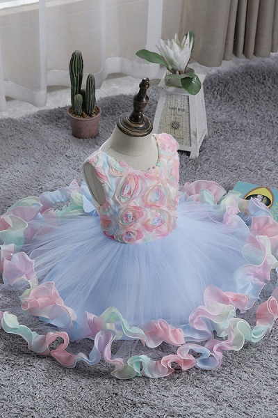FS9978 Princess Floral Tulle Flower Girl Dress_7