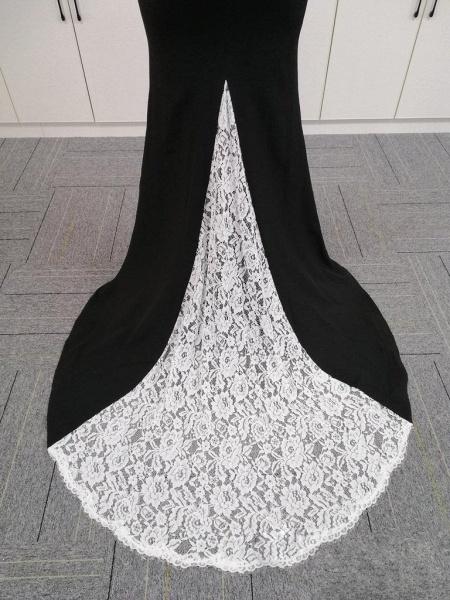 BA4780 Spaghetti Straps Mermaid Lace Satin Bridesmaid Dress_8