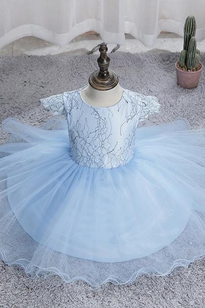 FS9974 Scoop Cap Sleeve Blue Flower Girl Dress_8