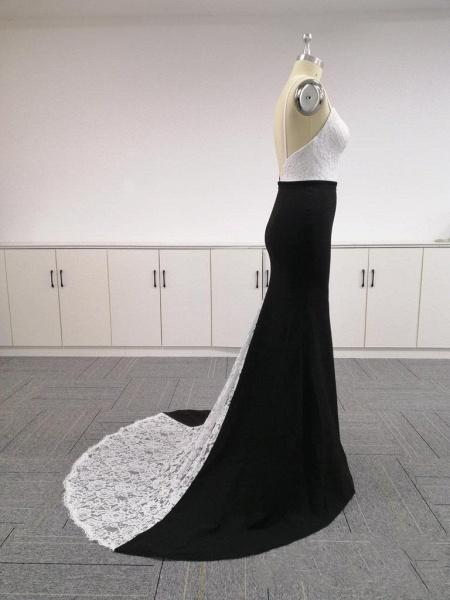 BA4780 Spaghetti Straps Mermaid Lace Satin Bridesmaid Dress_4