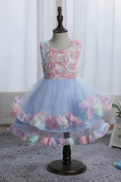 FS9978 Princess Floral Tulle Flower Girl Dress