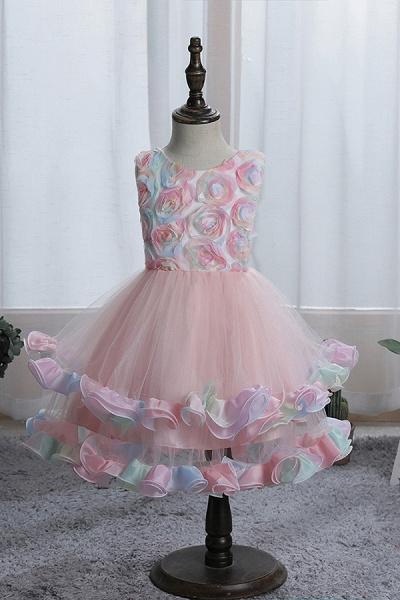 FS9978 Princess Floral Tulle Flower Girl Dress_1