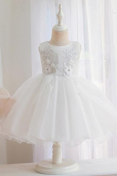 FS9966 Appliques Sleeveless Scoop Ball Gown Wedding Dress_1