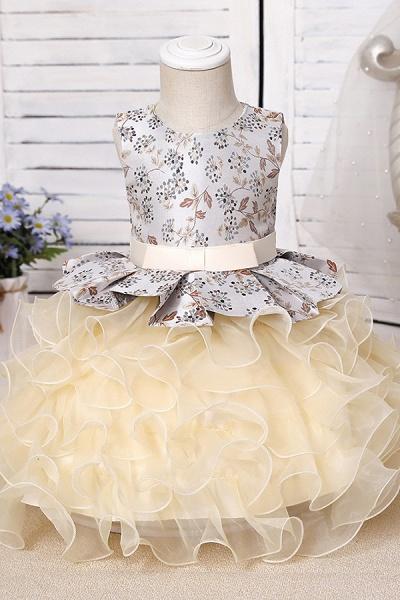 FS9963 Scoop Purple Ruffles Floor Length Flower Girl Dress_9