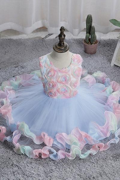 FS9978 Princess Floral Tulle Flower Girl Dress_5