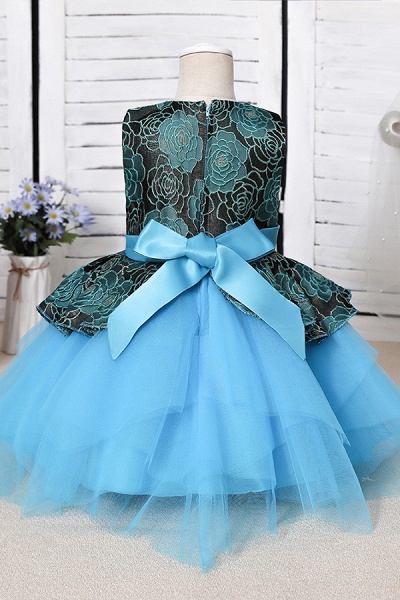 FS9964 Ball Gown Scoop Appliques Flower Girl Dress_6